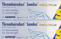 THROMBAREDUCT Sandoz 30.000 I.E. Gel